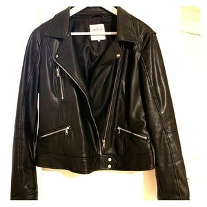 Zara Trafaluc faux leather jacket size XL